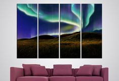 #northernlights Borealis #Northern Lights Photography Mountains Wall Art Northern Skies Landscape Canvas Colorfull Sunset Interior Decor Gift idea #WallArt #Home #Décor #Wall #Art #Kids #Room #bedroom #panel #canvas #large #print  #homedecor #decoration #interior #design #designer #beautiful #woodwork #handmade #Photo #fineartphotography