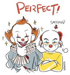 Penny y Pennywise two cents All Horror Movies, Horror Movie Characters, Memes Arte, Saint Yves, Le Clown, Im A Loser, Pennywise The Dancing Clown, Anime Galaxy, Cute Pens