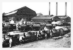 Trains Near Factories, Philadelphia, PA