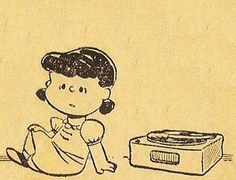 Lucy and turntable