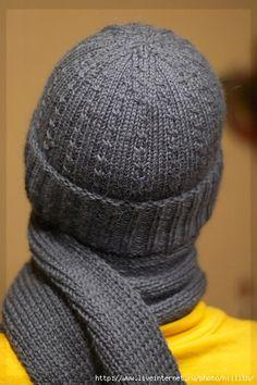 Мужские шапка и шарф. Обсуждение на LiveInternet - Российский Сервис Онлайн-Дневников