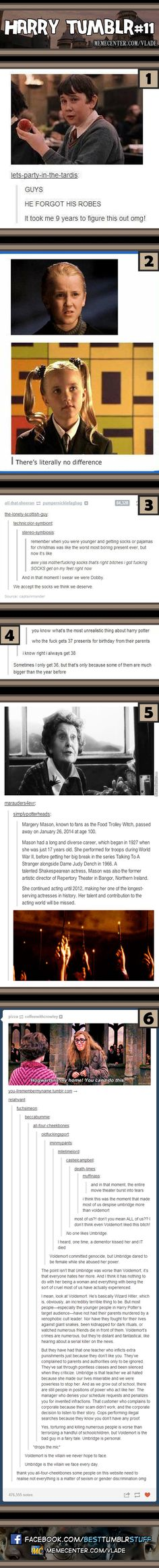 Harry potter. The last one though. Seriously! We don't hate Umbridge because she is a woman and whoever suggested that needs to take a step back and rethink their life decisions.