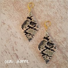 """125 Likes, 5 Comments - Anne (@podane.bijoux) on Instagram: """"BO camouflage, idéales pour cet hiver  #peaudanne #bijoux #diy #jewelry #madewithlove #madeinfrance…"""""""