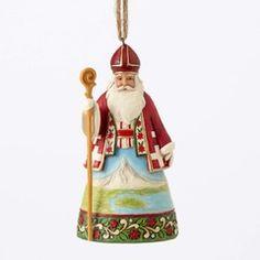 """Jim Shore Figur 4047786 ENESCO CHRISTMAS Hanging Ornament /""""Crescent Moon Santa/"""""""