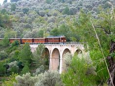 Palma de Mallorca train to Soller. A great train ride through orange groves