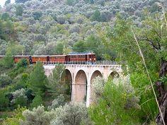 Palma de Mallorca train to Soller. A great train ride through orange groves