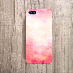 PASTEL PINK iPhone Case Paint iPhone 4s Case Pink by casesbycsera