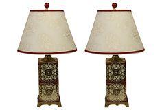 Tea-Tin Lamps, Pair on OneKingsLane.com