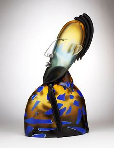 """Imposter"" Art-Glass Sculpture by Dan Dailey - '2006' ♥≻★≺♥"