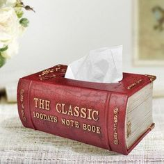 Classic Book Style Tissue Box Cover -- this would be cute to DIY as well!