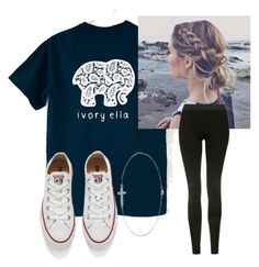 """""""save the """" by nc-preppy-living ❤ liked on Polyvore featuring Converse, Barefootsies and Topshop"""