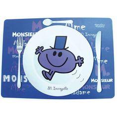"""Disponible sur Maisondulinge.fr Set de Table """" Mr & Madame """" Mr Incroyable"""