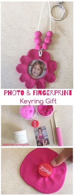Photo & Fingerprint Keyring Gift A special photo and fingerprint keyring gift makes a lovely gift!