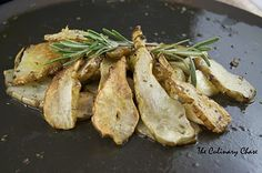 Roasted Jersalem Artichokes with garlic and rosemary