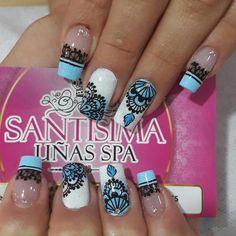 "1,462 Me gusta, 4 comentarios - Cuenta Oficial ✡ ☎ 3224955 (@santisima_nails) en Instagram: ""Separa tus citas con anticipación a la línea telefónica 📞 3225955 Estamos ubicados en Bello…"" Fingernail Designs, Ombre Nail Designs, Pretty Nail Designs, Nail Art Designs, Hot Nails, Swag Nails, Popular Nail Colors, Stiletto Nail Art, Flower Nails"