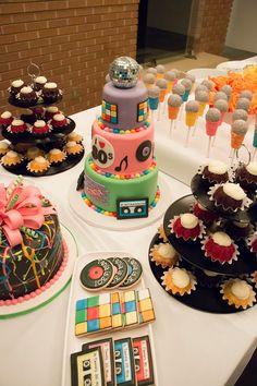 80s party ideas; 80s birthday parties; 80s birthday cake