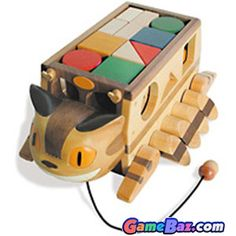 Toys - My Neighbor Totoro ~ Cat Bus Wooden Building Blocks Picture / Boxart