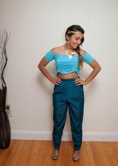 Princess Jasmine as a homemade Halloween costume  sc 1 st  Pinterest & DIY Halloween Costume Princess Jasmine Easy idea | DIY | Pinterest ...