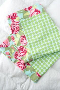 Baby Doll Receiving Blanket Pattern- Polka Dot Chair Blog
