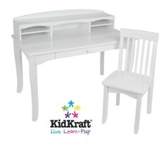 KidKraft Avalon Desk With Hutch And Chair by KidKraft. $186.84. Some assembly may be required. Please see product details.. KidKraft's Avalon Desk with Hutch would look perfect in any child's bedroom. This desk gives kids a great place for working on homework and a perfect spot for storing pictures, trophies and collectibles.. Save 38%!