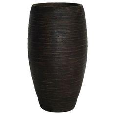 21-in H x 12-1/4-in W x 12-1/4-in D Bronze Fiberglass Indoor/Outdoor Vase - Lowes 12.49