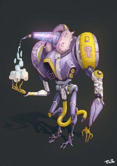 FG robot, Teng xianzhuo on ArtStation at https://www.artstation.com/artwork/EYbrq