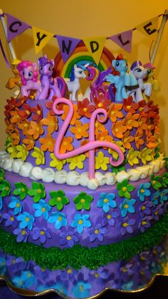 My Little Pony Birthday Cake by Sweet Nothings Bakery - https://www.facebook.com/TinasSweetNothings
