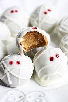 Pumpkin Cheesecake Truffle Mummies