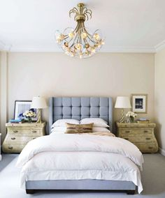 Bedroom Bliss. Baby blue. At Home in New York with Royce Pinkwater