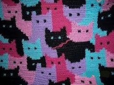 Cat afghan free patterns