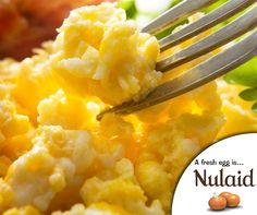 #TuesdayTip: For the creamiest scramble eggs, you'll want to stir often. As you stir, you'll break down the egg curds that are forming making them smaller, softer and creamier. #Nulaid