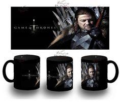 Taza Negra Eddard Ned Stark Juego De Tronos Thrones Black Mug Tazza Tasse Coupe - Bekiro