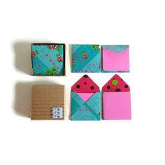 Ladybugs  Mini Stationery Set: Tiny Square Envelopes and by ciaffi