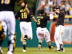 78f4096ad Celebrate good times: Baseball's walk-off wins. Pittsburgh SportsPittsburgh  ...