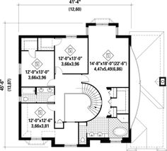 European Style House Plan - 4 Beds 2 Baths 3297 Sq/Ft Plan #25-4861 - Houseplans.com Vestibule, Heating And Plumbing, Two Storey House, Monster House Plans, Surface Habitable, European Fashion, European Style, Front Elevation, New Home Designs