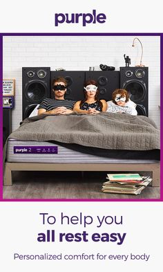 The mattress designed for the whole family, Purple is able to isolate and dramatically reduce motion transfer from whomever is in bed with you. A temperature-neutral, open grid design disperses body heat and allows airflow, so you don't wake up overheated Teen Bedroom, Bedroom Decor, Bedrooms, Interior Design Living Room, Living Room Designs, Study Table Designs, Curtain Inspiration, Balkon Design, Cabin Tent
