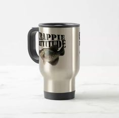 Crappie Attitude Travel Mug For the adventurous fisherman on the GO! #fishing #crappie #travelmug #mug