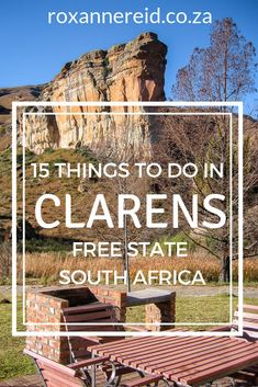 Visiting Clarens in South Africa's Free State province? Find out things to do there, from visiting the Golden Gate Highlands National Park, delving in history and dinosaurs, mountain biking in Clarens, horse riding in Clarens, hiking in Clarens, quad biking in Clarens, abseiling, ziplining and white-water rafting in Clarens, hot air ballooning, fly fishing in Clarens, Clarens restaurants and art galleries, and Clarens accommodation. #Clarens #FreeState #africantravel