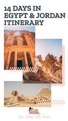 How to Spend 14 Days in Jordan & Egypt - The Ultimate Itinerary 14 Days in Jordan & Egypt – The Ultimate Itinerary // With suggestions for how to spend more or less time + accommodation + tour recommendations Egypt Travel, Africa Travel, Morocco Travel, Travel Europe, Travel Advice, Travel Guides, Travel Tips, Travel Articles, Amazing Destinations