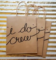 I Do Crew Gift Bags for Bachelorette Bridal Party, Hand lettered Medium Kraft Bags with Handles, Sturdy Bottom, different font color choices – Abi Bailey – handtasche Bridesmaid Duties, Bridesmaid Proposal, Bridesmaids, Bachelorette Party Favors, Bachelorette Weekend, Bachelorette Party Checklist, Kraft Bag, Wedding Gifts For Guests, Wedding Favors