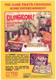 Dungeons and Dragons spin-off boardgame Dungeon! Ad in Magazines