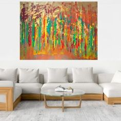 No storm is strong enough to bend us - XXL earthy toned abstract - Ivana Olbricht Palette Knife Painting, Different Light, Copper Color, Ivana, Abstract Landscape, Wooden Frames, Earthy, Colorful Backgrounds, Landscapes