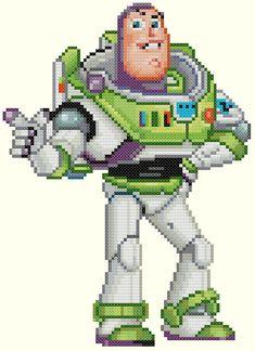 Buzz Lightyear Cross Stitch Pattern by KeenahsCrossStitch on Etsy, $4.99