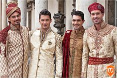 Wedding day wear for Grooms is as important as that of bride's. Get tips on wedding attire for grooms. Complete guide on how to select the Groom-wear Groom Wear, Groom Outfit, Ethnic Fashion, Mens Fashion, Wedding Attire, Wedding Dresses, Marriage Dress, Indian Groom, Getting Married