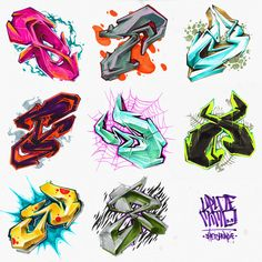 Graffiti Lettering Alphabet, Graffiti Writing, Graffiti Wall Art, Street Art Graffiti, Grafitti Letters, Calligraphy Alphabet, Islamic Calligraphy, Graffiti Designs, Graffiti Styles