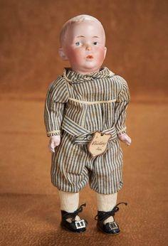 "antique+dolls+whistling+boy | 11"" (28 cm.) German Bisque ""Whistling Jim"" by Gebruder Heubach ..."