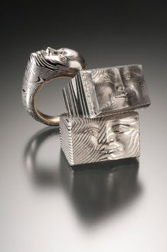 Ring | Collaboration between Anthony Lent and Chris Ploof. Damascus steel