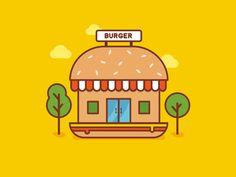 Burger Shop  by Seevi kargwal