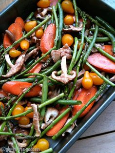 Easy cider roasted vegetables ... serve with a side of hummus