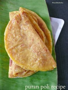 This sweet puran poli recipe making is easy but some times. puran poll in the North,obattu,bobbatlu and paruppu poli in the South. Indian Dessert Recipes, Indian Sweets, Indian Snacks, Indian Breads, Veg Recipes, Sweet Recipes, Vegetarian Recipes, Cooking Recipes, Gourmet